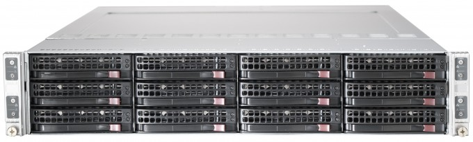 Microway 2U Twin Server chassis with 3.5 inch drive bays