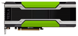 Photo of the front of the NVIDIA Tesla M40 GPU