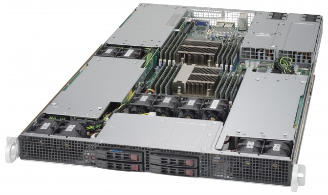 NumberSmasher 1U Tesla GPU Server- 1028GR-TR
