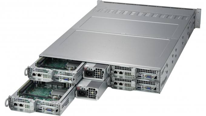 NumberSmasher Xeon 2U Twin² Systems (Four Servers in 2U) - Supermicro 2029TP-HTR