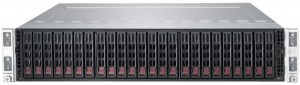 Microway 2U Twin Server chassis with 2.5 inch drive bays