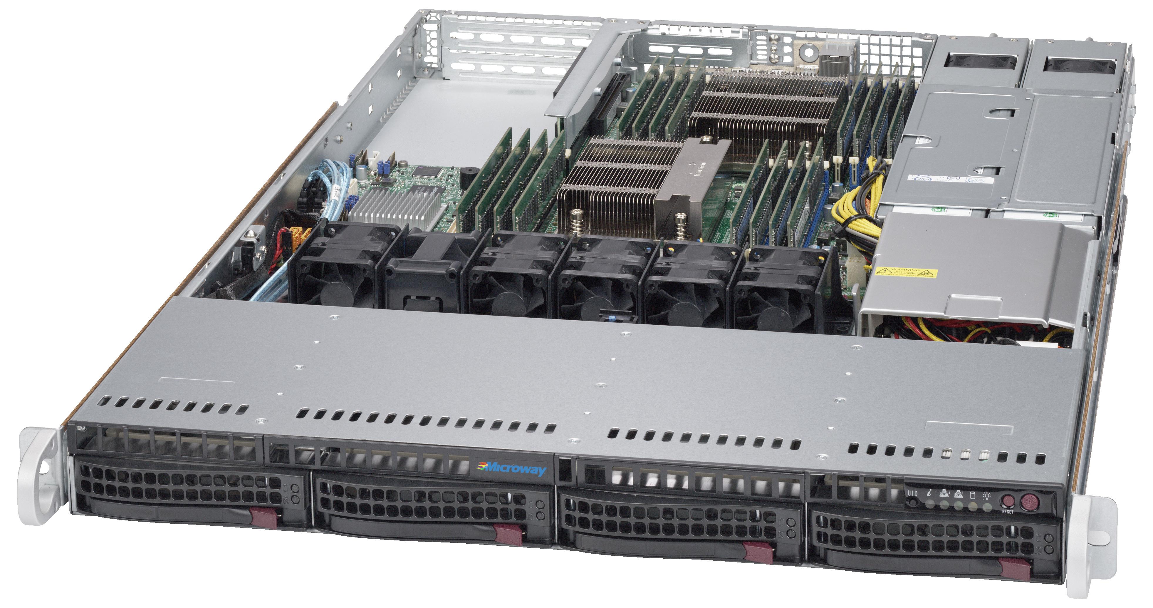 Microway Supermicro 1U Server - 6018R-WTRT   Microway