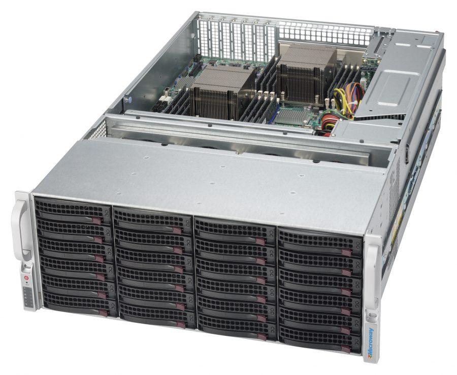 Microway 4U Storage System based on CSE-847BE1C-R1K28LPB