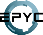 Logo of the AMD EPYC SoC CPU