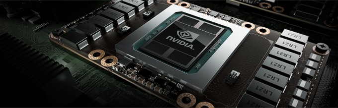 Close-up image of the NVIDIA Tesla P100 SXM2 GPU