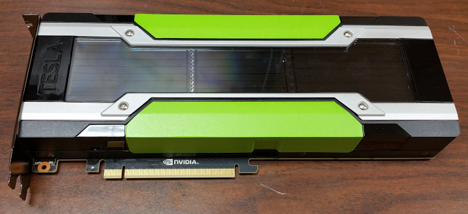 Photo of the NVIDIA Tesla M40 24GB GPU Accelerator bottom edge