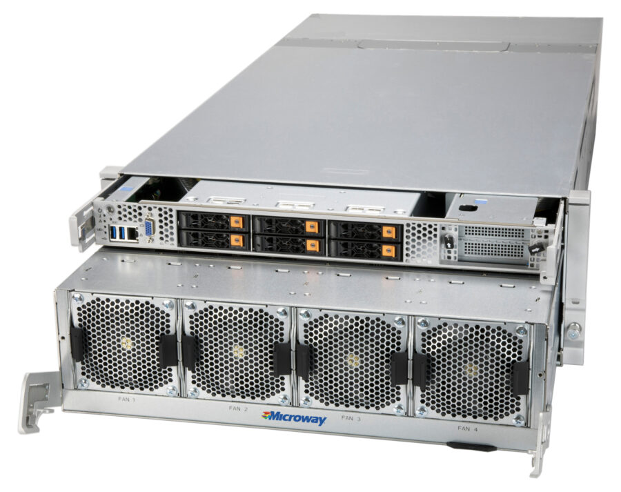 Photo of the Octoputer 4U 8-GPU Server with NVLink