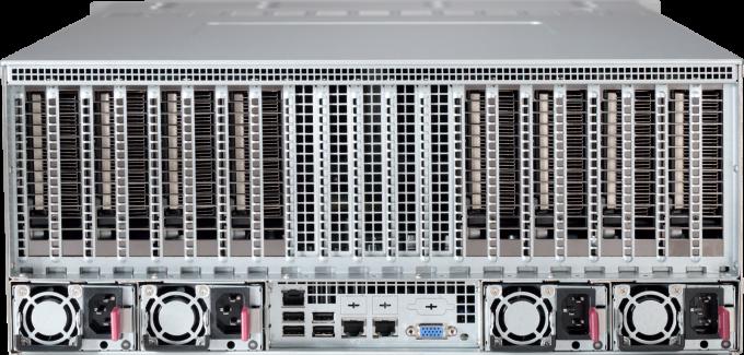 Rear view of Microway Octoputer 8-GPU 48-drive Server