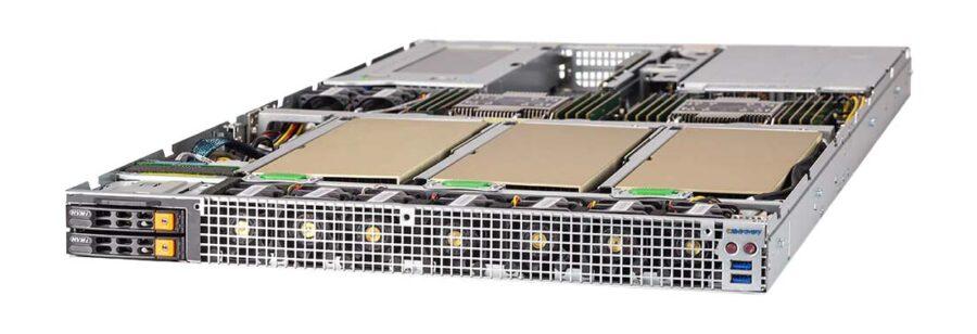 NumberSmasher 1U 4 GPU Server