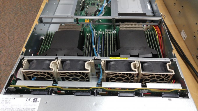 Close-up photo of the Supermicro SYS-6028U-TR4 2U server supporting 3 DIMMs per channel