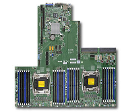 Photo of the Supermicro X10DRU-i motherboard