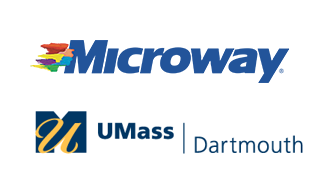 UMass Dartmouth + Microway Logos